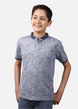 Edenrobe Cotton Polo Shirts for Boys - Blue EBTPS19-012