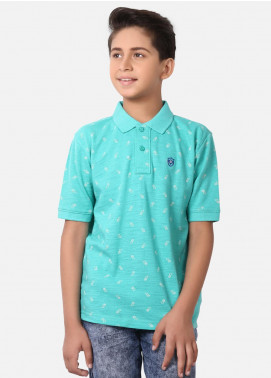 Edenrobe Cotton Polo Shirts for Boys - Sea Green EBTPS19-016