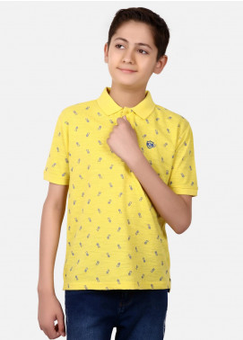 Edenrobe Cotton Polo Boys Shirts - Yellow EBTPS19-017