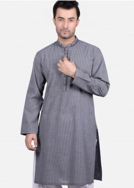 Edenrobe Cotton Formal Men Kurtas - Grey EMTK19S-9687