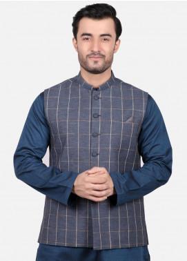 Edenrobe Jacquard Formal Waistcoats for Men - Grey EMTWC19-35666