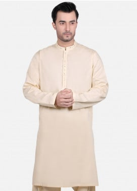 Edenrobe Wash N Wear Formal Kameez Shalwar for Men - Beige EMTKS18S-40664