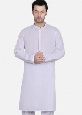 Edenrobe Wash N Wear Formal Kameez Shalwar for Men - White EMTKS18S-40681