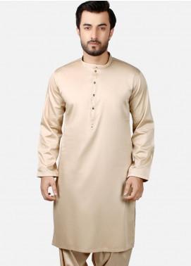 Edenrobe Wash N Wear Formal Men Kameez Shalwar - Beige EMTKS19-005