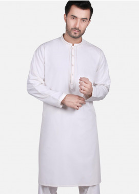 Edenrobe Wash N Wear Formal Kameez Shalwar for Men - Off White EMTKS19S-40697
