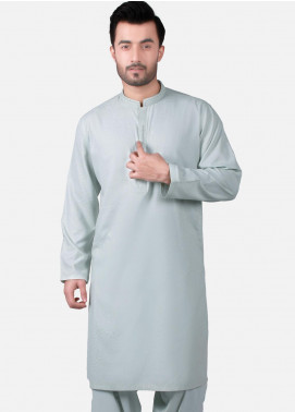 Edenrobe Wash N Wear Formal Men Kameez Shalwar - Blue EMTKS19S-40733