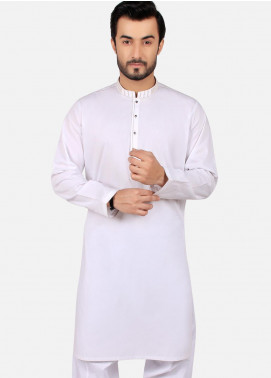 Edenrobe Wash N Wear Formal Men Kameez Shalwar - White EMTKS19S-40750
