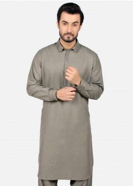 Edenrobe Wash N Wear Formal Kameez Shalwar for Men - Grey EMTSW19S-9785