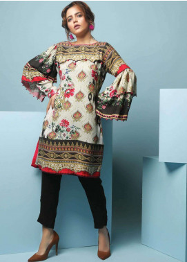 Edenrobe Printed Viscose Unstitched Kurties 019459 - Winter Collection