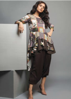 Edenrobe Printed Viscose Unstitched Kurties 019466 - Winter Collection