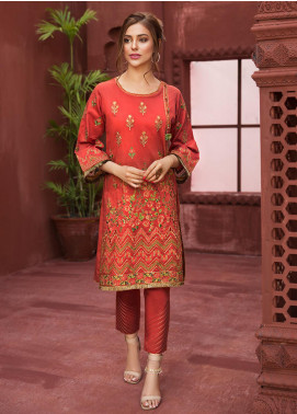 Edenrobe Embroidered Jacquard Stitched Kurtis 066489