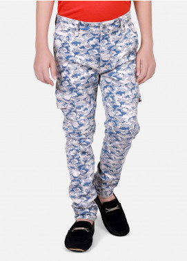 Edenrobe Cotton Printed Boys Pants - Blue EDK18P 5710