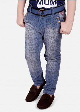 Edenrobe Jeans Faded Boys Pants - Blue EDK18P 5713