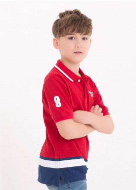 Edenrobe Cotton Polo Boys Shirts - Red EDK18PS 004
