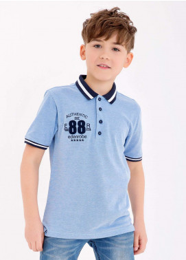 Edenrobe Cotton Polo Shirts for Boys - Blue EDK18PS 006