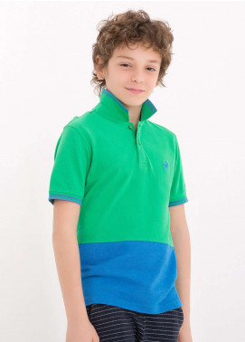 Edenrobe Cotton Polo Shirts for Boys - Green EDK18PS 011