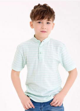 Edenrobe Cotton Polo Boys Shirts - Sea Green EDK18PS 017