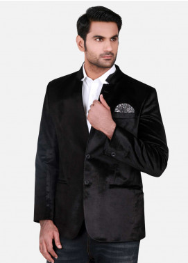 Edenrobe Cotton Casual Blazers for Men - Black EDM18B-6575