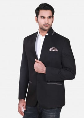 Edenrobe Cotton Casual Blazers for Men - Black EDM18B-6580