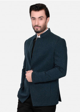 Edenrobe Cotton Casual Men Blazers - Blue EDM18B-6591