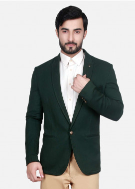 Edenrobe Cotton Casual Blazers for Men - Green EDM18B-6593