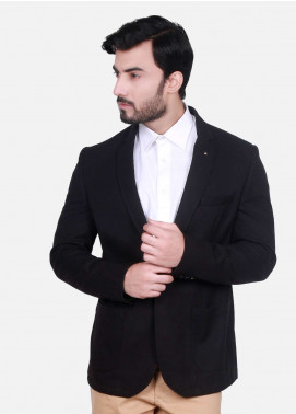 Edenrobe Cotton Casual Men Blazers - Black EDM18B-6599