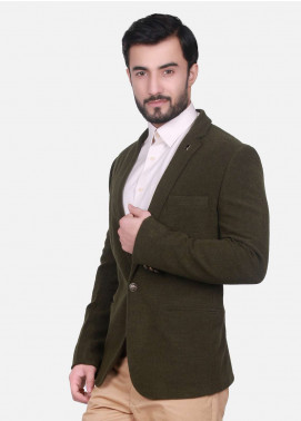 Edenrobe Cotton Casual Men Blazers - Brown EDM18B-6617