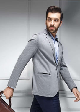 Edenrobe Cotton Casual Blazers for Men - Grey EDM18B-6619