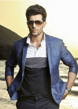 Edenrobe Cotton Casual Blazers for Men - Royal Blue EDM18B-6667