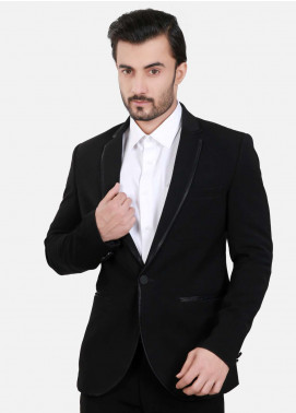 Edenrobe Cotton Ceremonial Suits for Men - Black EDM18S 6549