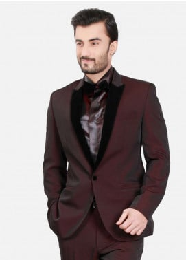 Edenrobe Cotton Ceremonial Men Suits - Maroon EDM18S 6587