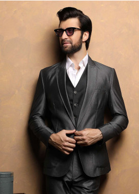 Edenrobe Cotton Ceremonial Men Suits - Black EDM18S 6637