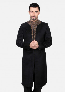 Edenrobe Suiting Embroidered Sherwanis for Men - Black EDM18SH 7134