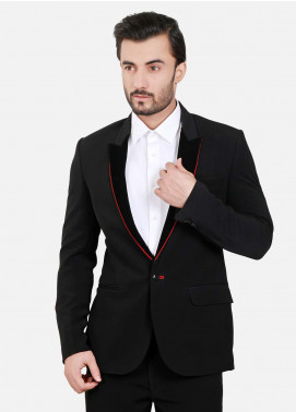 Edenrobe Cotton Formal Suits for Men - Black EDM18FS 6550