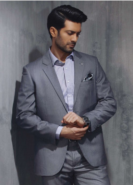 Edenrobe Cotton Formal Men Suits - Grey EDM18FS 8059