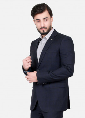 Edenrobe Cotton Formal Suits for Men - Navy Blue EDM18FS 8062