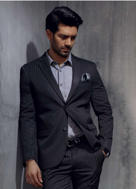 Edenrobe Cotton Formal Men Suits - Grey EDM18FS 8067