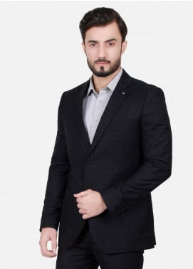 Edenrobe Cotton Formal Suits for Men - Black EDM18FS 8071