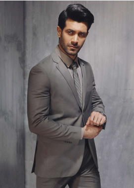 Edenrobe Cotton Formal Men Suits - Grey EDM18FS 8072