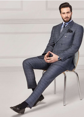 Edenrobe Cotton Formal Men Suits - Grey EDM18FS 8077