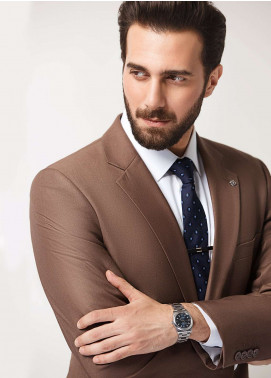 Edenrobe Cotton Formal Men Suits - Brown EDM18FS 8098