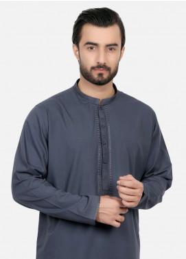 Edenrobe Cotton Embroidered Kameez Shalwar for Men - Navy Blue EDS18M 40570