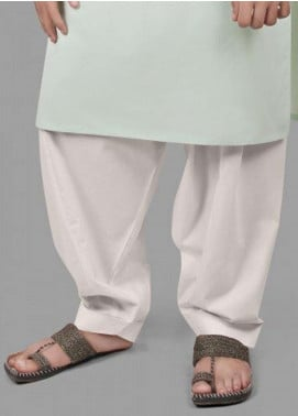 Edenrobe Washing Wear  Men Shalwar - White EDS18M 9909
