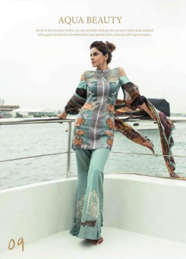 Erum Khan By Zohan Embroidered Chiffon Unstitched 3 Piece Suit EK17E2 09