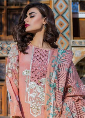 Erum Khan Embroidered  Unstitched 3 Piece Suit EK18E3 05 - Eid Collection