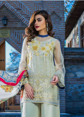 Erum Khan Embroidered  Unstitched 3 Piece Suit EK18E3 06 - Eid Collection
