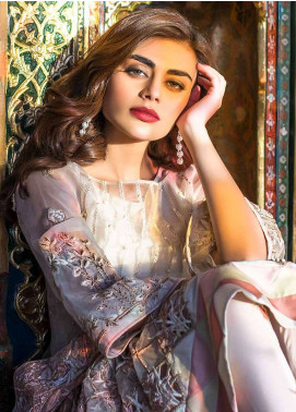 Erum Khan Embroidered  Unstitched 3 Piece Suit EK18E3 08 - Eid Collection