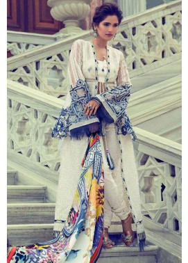 Elan Embroidered Chiffon Unstitched 3 Piece Suit El17E Nurbanu