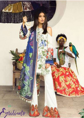 Elan Embroidered Lawn Unstitched 3 Piece Suit EL18L 10A - Spring / Summer Collection