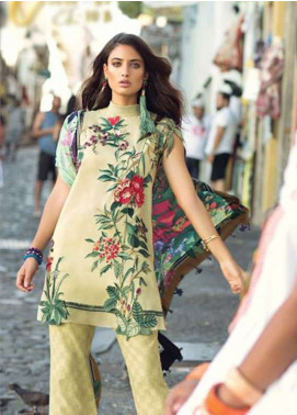Elan Embroidered Lawn Unstitched 3 Piece Suit EL18L 10B - Spring / Summer Collection